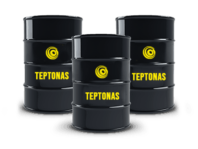 teptonas logo on barrels